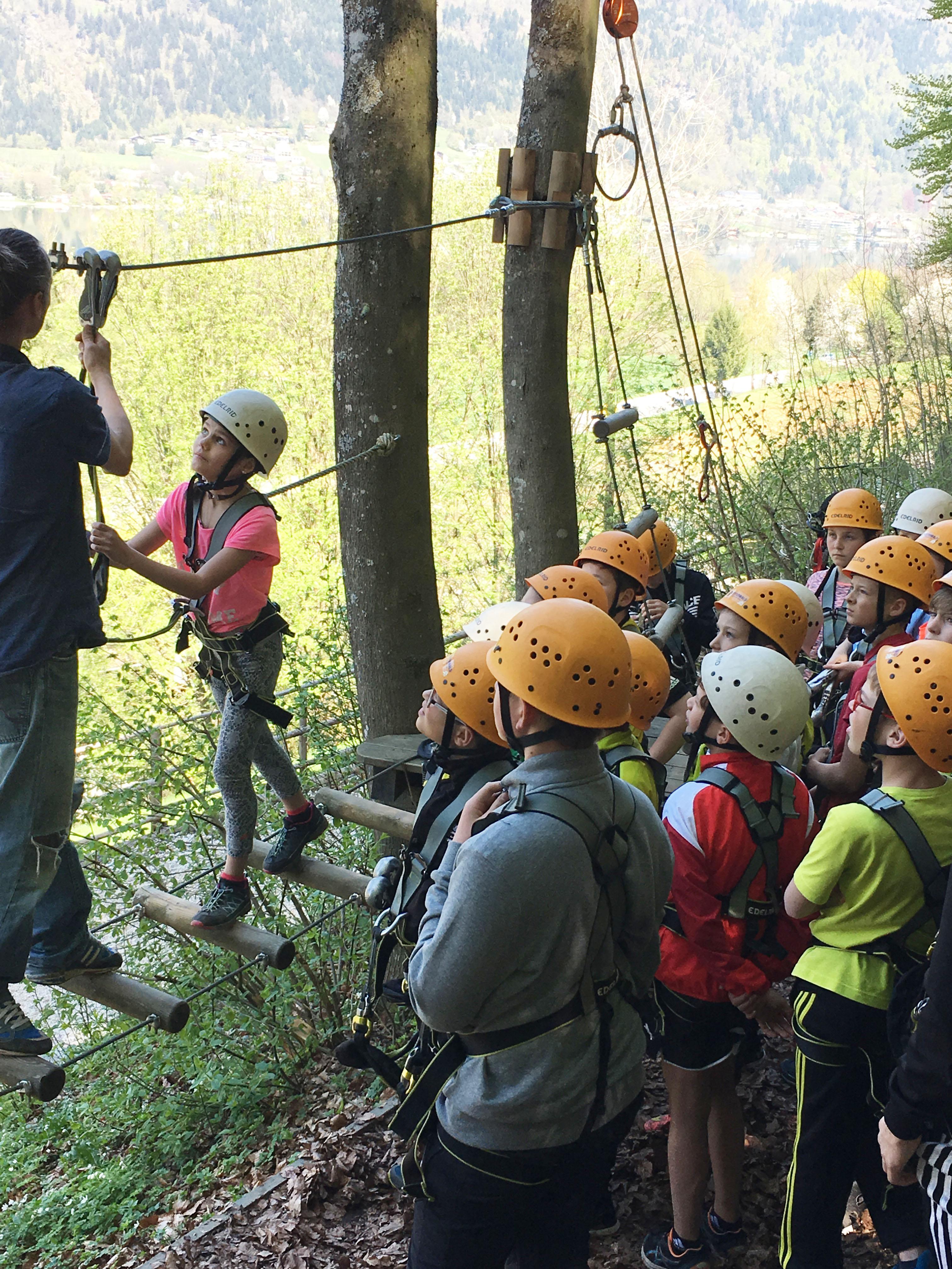 Schulgruppen im Kletterwald Ossiacher See